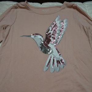 Children's Place Hummingbird Sequin Top XL